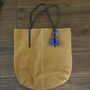 LOFT large leather tote